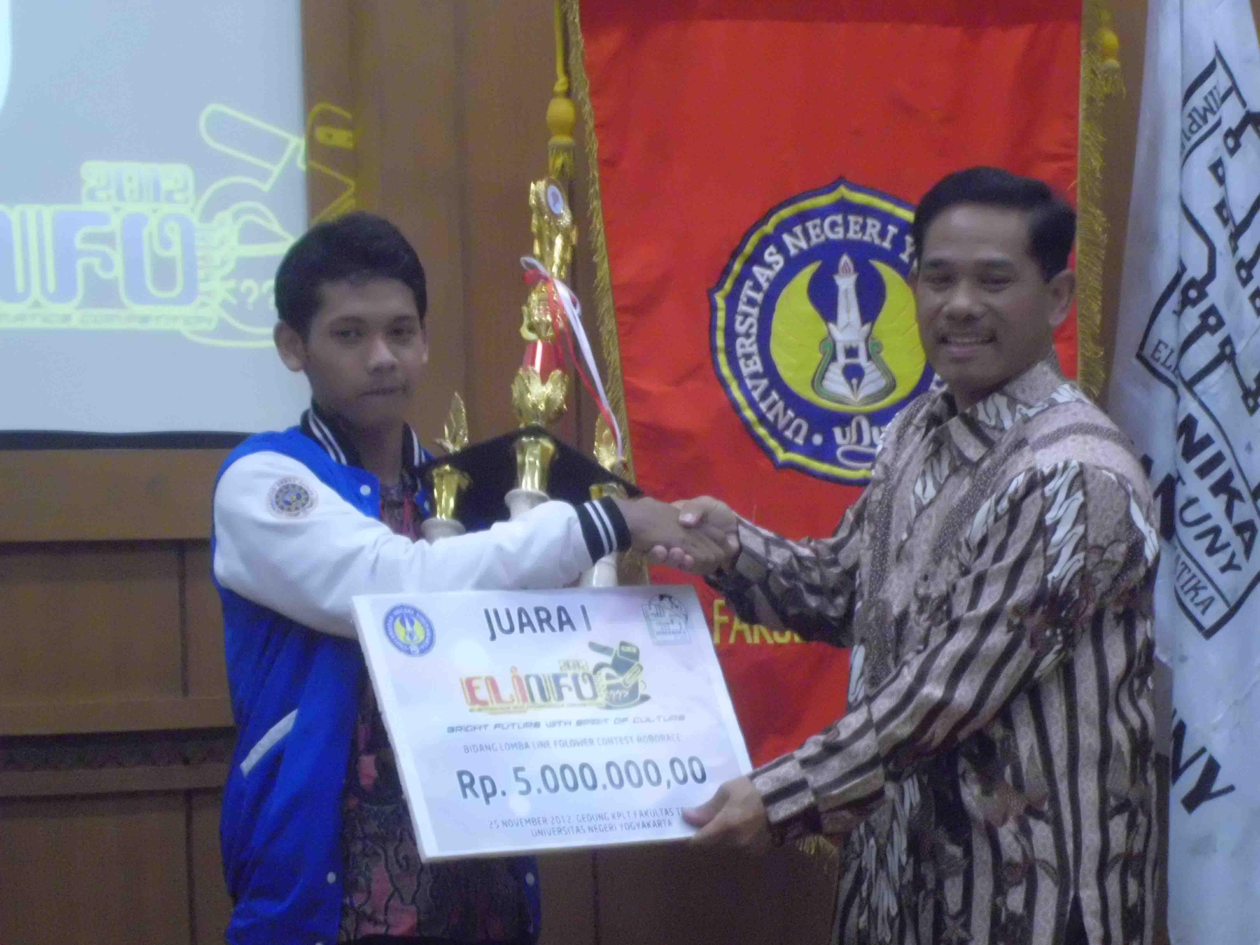 Juara 1dan 4 Lomba ELINFO Tahun 2012