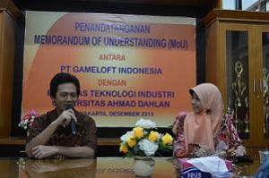 MoU FTI UAD dan PT. Gameloft Indonesia