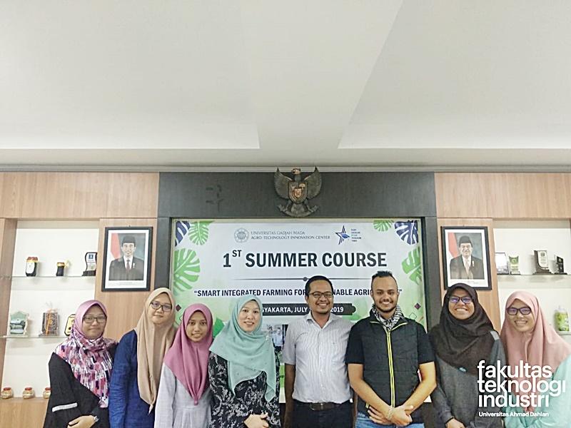 Mahasiswa Teknik Kimia FTI UAD Mengikuti kegiatan Summer Course PIAT UGM