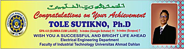 Tole Sutikno, Ph.D.