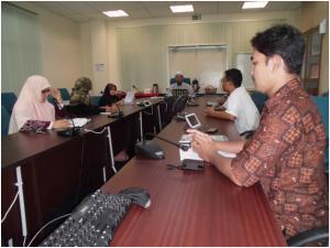 Suasana diskusi untuk kesepakatan program-program Kerjasama antara FTI UAD dan Fakulty Komputeran UTM