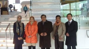 Delegasi UAD di depan Johann Bernoulli Institute RUG